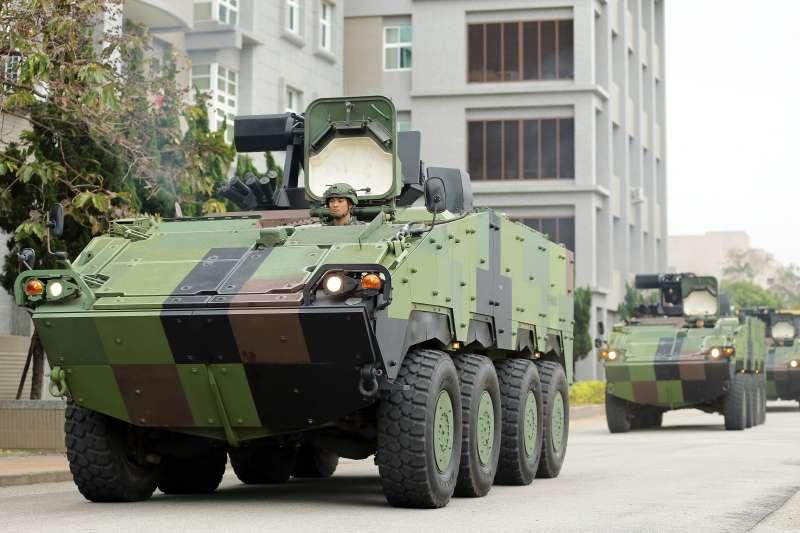 20200126-憲兵239營是首都唯一一支裝甲部隊,現以雲豹8輪甲車(圖)為主力。(軍聞社提供)
