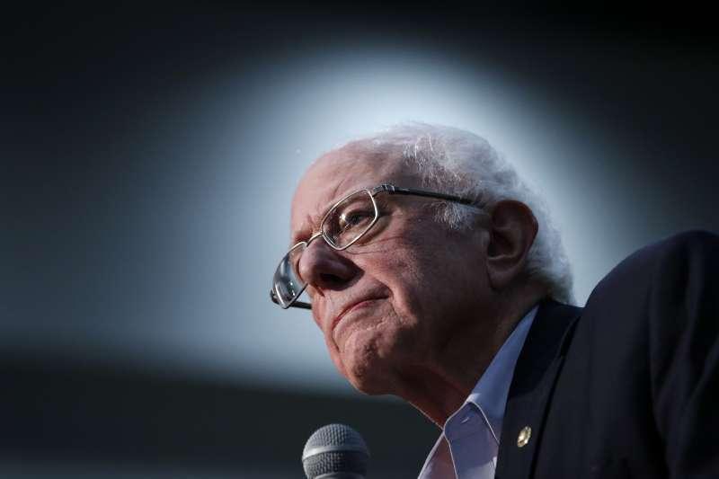 民主黨總統參選人桑德斯。(AP)