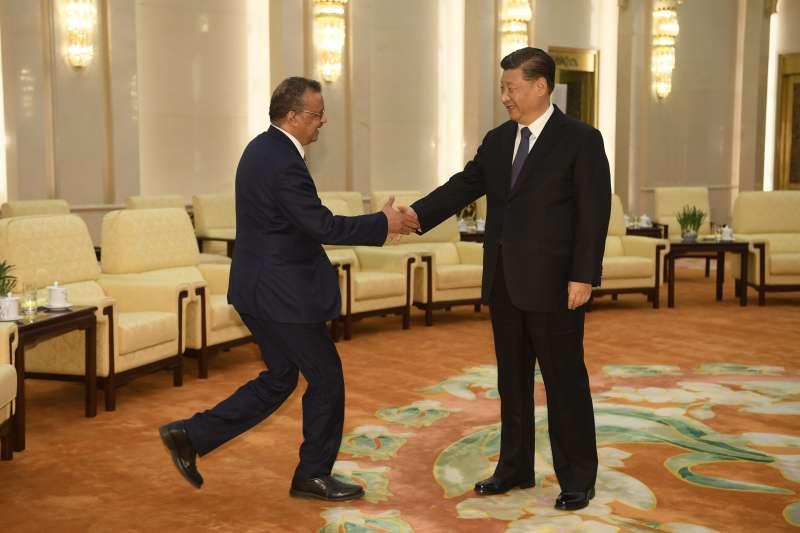 武漢肺炎:世界衛生組織(WHO)總幹事譚德塞在北京與中國國家主席習近平會面(AP)