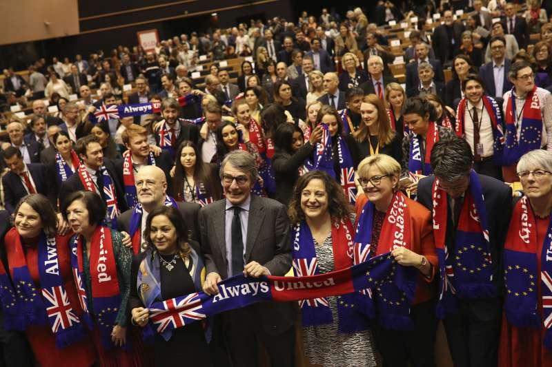 歐洲議會29日表決通過脫歐協議(美聯社)