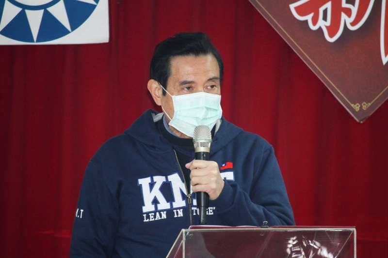 20200130-國民黨前主席馬英九出席國民黨新春團拜。(蔡親傑攝)