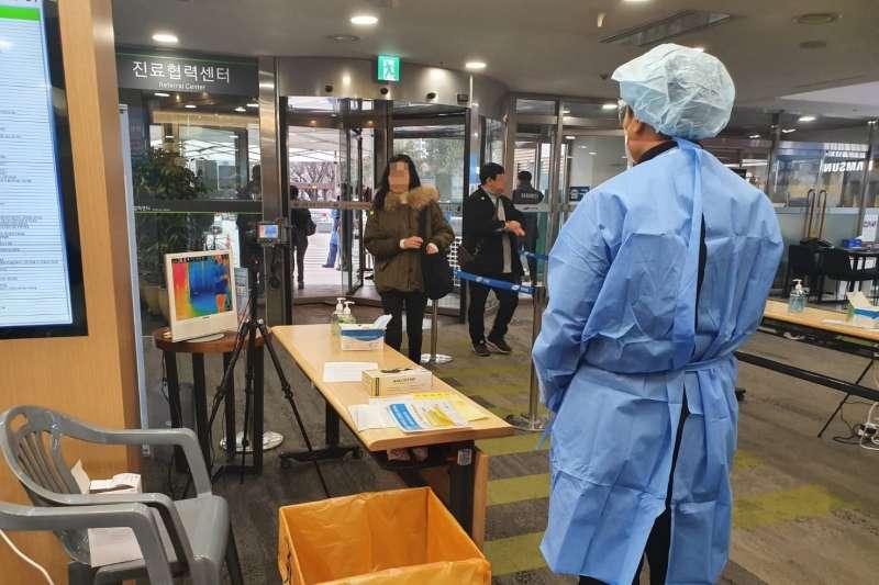 面對武漢肺炎,韓國防疫也嚴陣以待。(圖/作者提供)