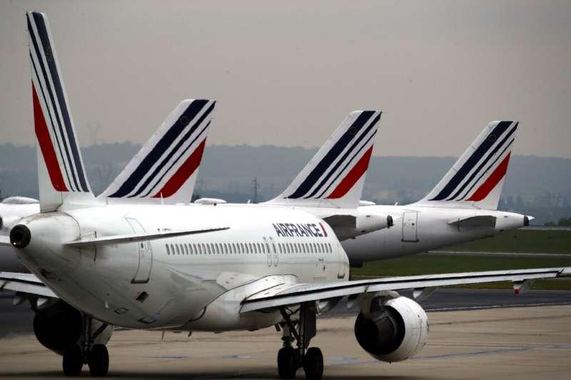 武漢肺炎疫情延燒,法國航空已經宣佈停飛所有中國航班。(美聯社)