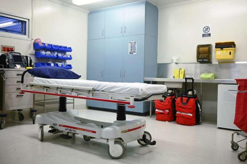 澳洲聖誕島上的醫療設施。(AP)