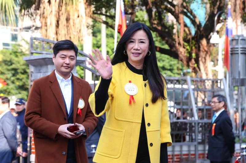 20200201-國民黨立委萬美玲1日至立院報到。(顏麟宇攝)