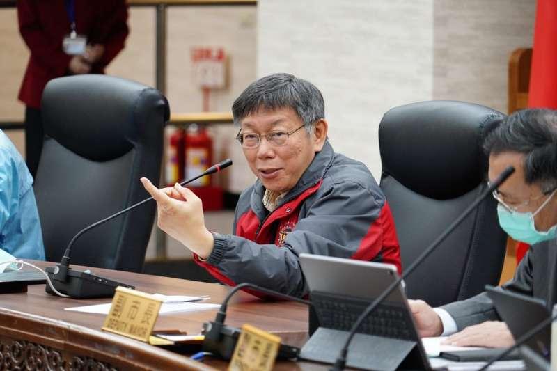 台北市長柯文哲近日較少出面媒體受訪,其心腹、台灣民眾黨立委蔡壁如12日透露,是幕僚希望柯文哲能退居二線,少發言。(資料照,取自台北市政府網站)
