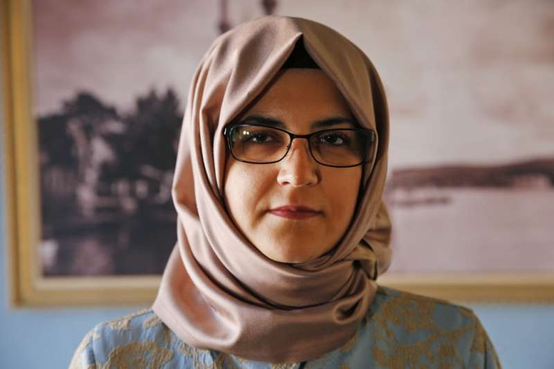 沙烏地阿拉伯異議記者哈紹吉的未婚妻堅吉茲(美聯社)