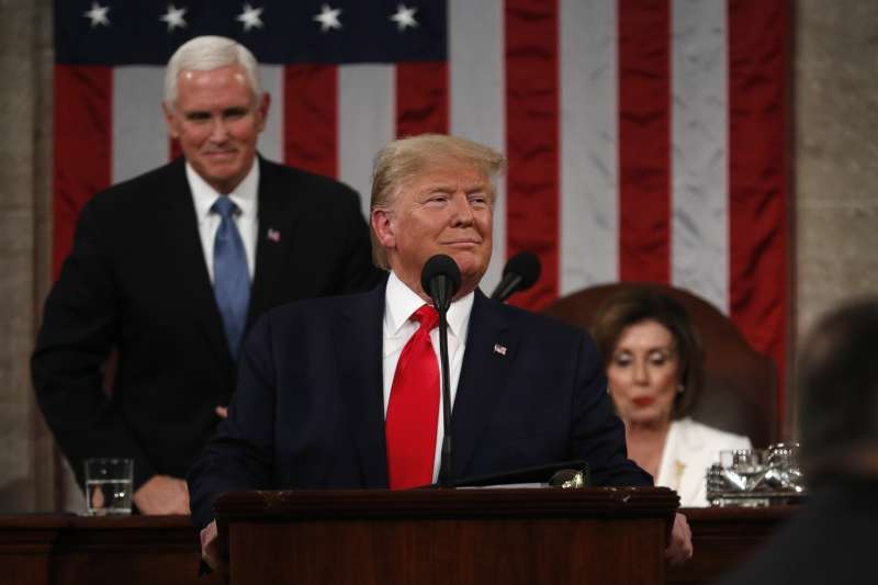 2020年2月4日,美國總統川普發表國情咨文(AP)