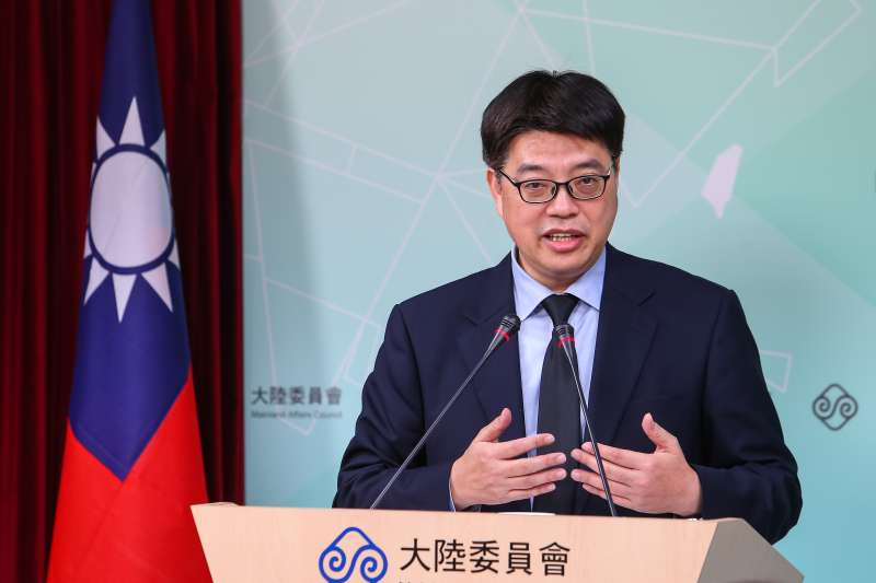 20200206-陸委會副主委邱垂正6日召開記者會。(顏麟宇攝)