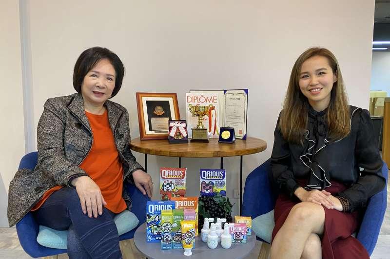 EIAA協會理事長吳希文(左)與奇瑞斯執行長王亭羽呼籲『提升自體免疫力』是目前唯一自我保護最重要的課題。(圖/EIAA協會提供)