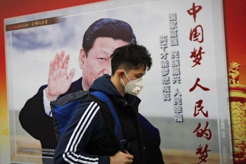 中國武漢肺炎延燒,習近平承認,這是新中國成立以來,防控難度最大的重大突發公衛事件。(美聯社)