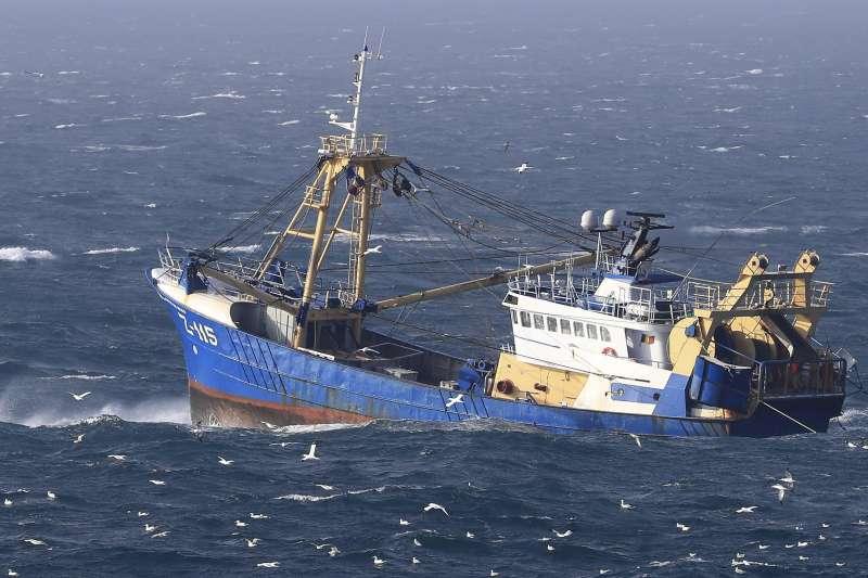 2020年1月31日,英國脫離歐盟,進入11個月的過渡期,漁權也成為棘手議題(AP)