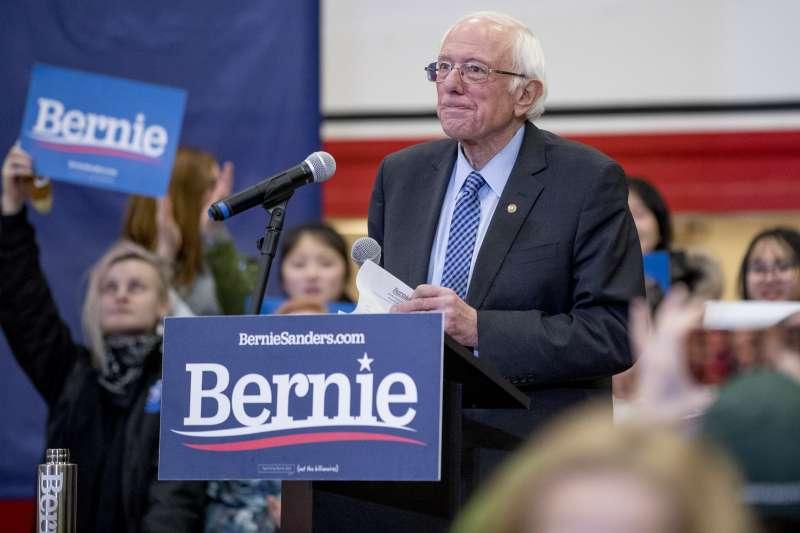2020美國總統大選:爭取民主黨提名的桑德斯(AP)
