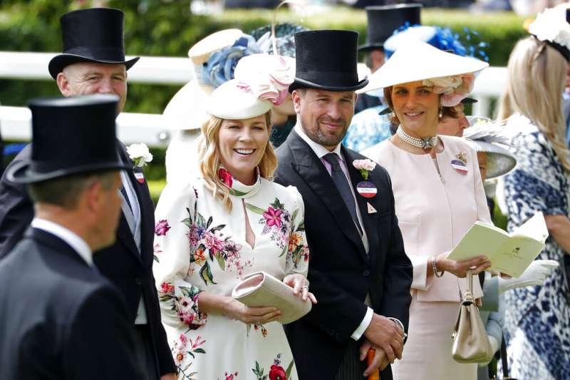 英國女王的長外孫彼得‧菲利普斯與妻子奧特姆11日宣布,兩人即將結束12年的婚姻。(AP)