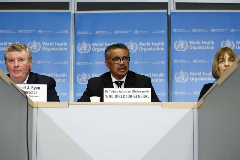 武漢肺炎論壇:世界衛生組織(WHO)總幹事譚德塞(AP)
