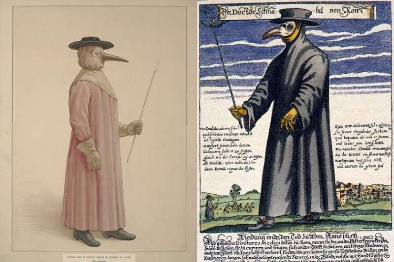 鳥人裝的長袍由多層布料製成,嚴嚴實實地罩住全身。(圖/取自維基百科)