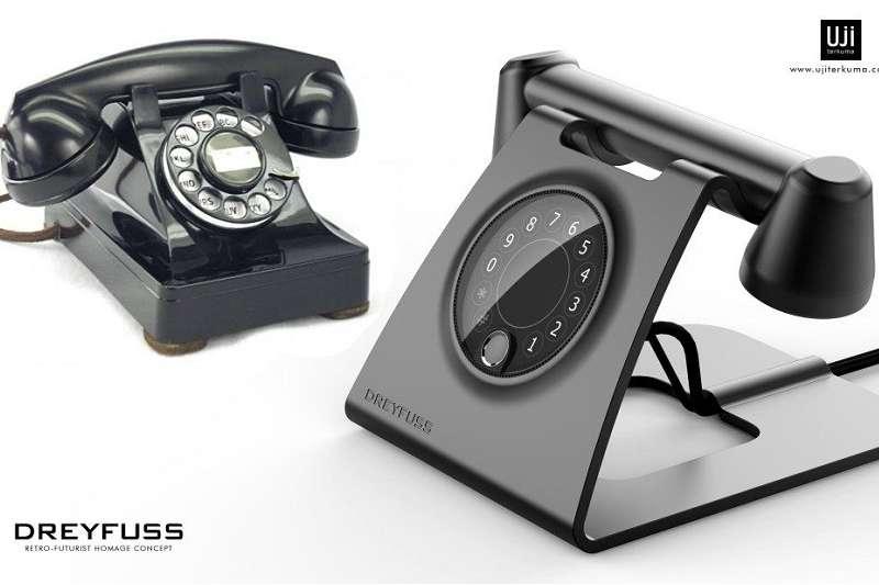 《DREYFUSS復古未來主義電話概念》帶有經典Bell 302的概念。(圖/瘋設計)