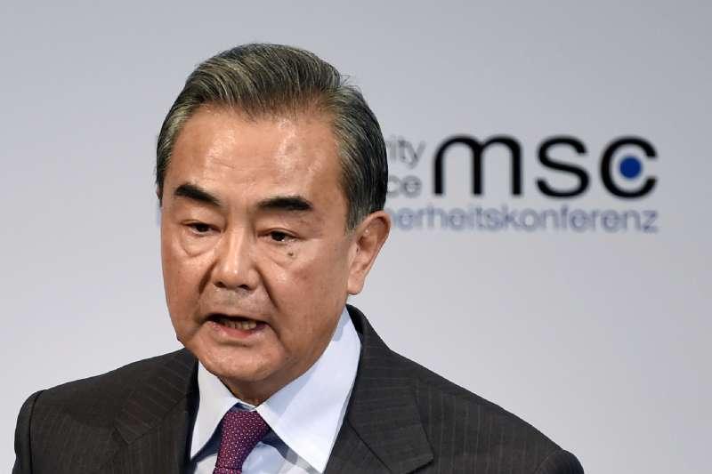 出席德國慕尼黑國際安全會議的中國外長王毅(AP)