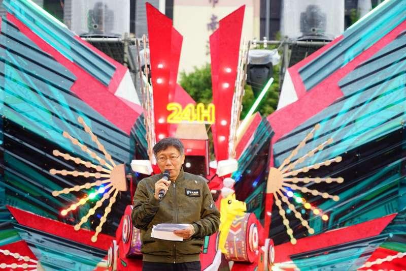 台北市長柯文哲(見圖)17日受訪時表示,他認為社區感染遲早還是會發生。(資料照,台北市政府提供)