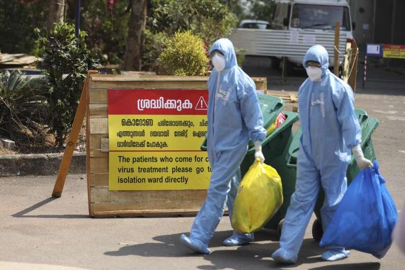 武漢肺炎:印度嚴防新冠肺炎疫情擴散(AP)