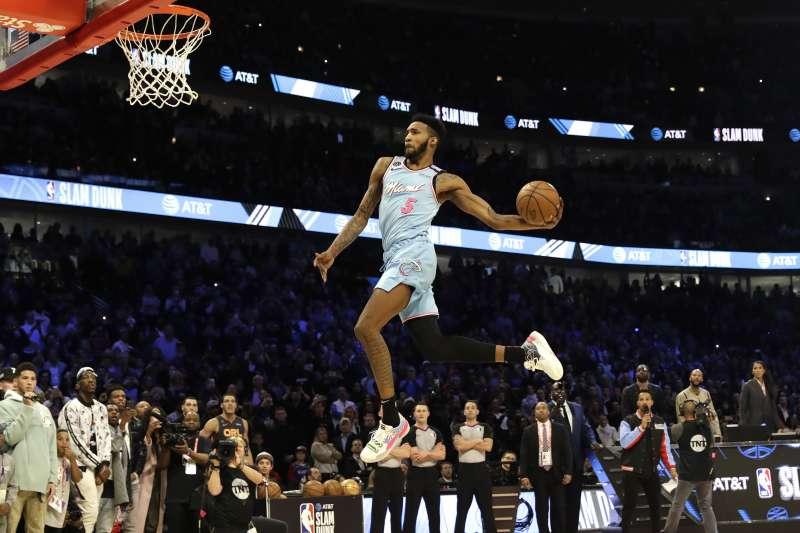 2020全明星賽灌籃大賽冠軍瓊斯和Puma簽下複數年合約。(AP)