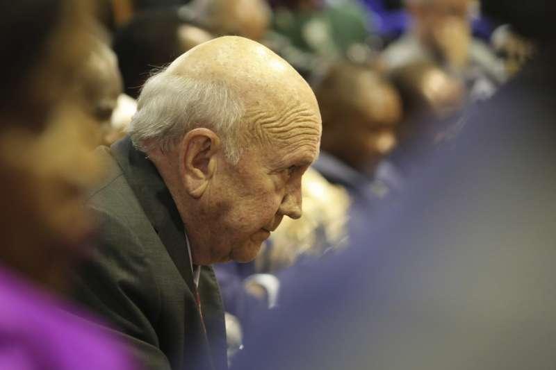 南非種族隔離時期的末代白人總統戴克拉克(AP)