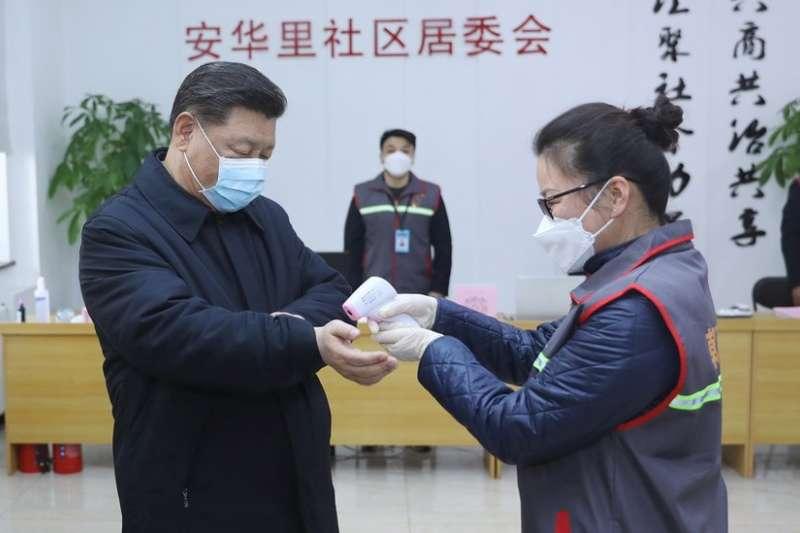 中國主席習近平在疫情爆發後一直較少露面。(圖/BBC News)