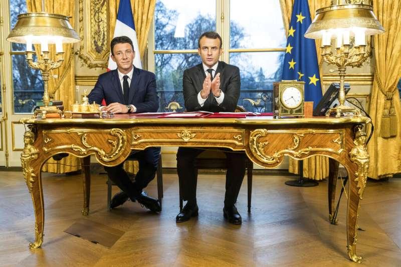 法國總統馬克宏最中意的巴黎市長候選人葛里沃因不雅色情影片流傳,而宣布退選。(AP)