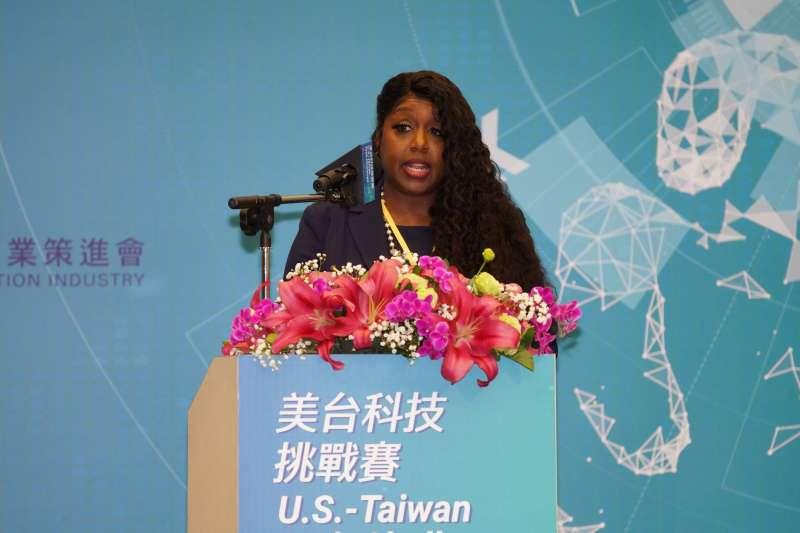 20200219-美國國務院全球參與中心科技參與團隊主任華茲19日出席美台科技挑戰賽開幕式。(盧逸峰攝)