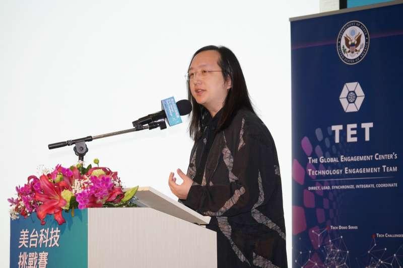 20200219-政務委員唐鳳19日出席美台科技挑戰賽開幕式。(盧逸峰攝)