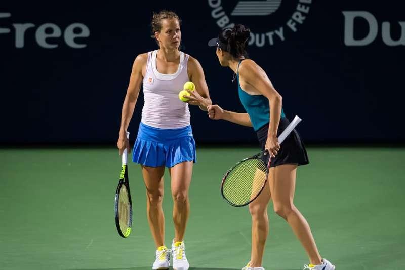 謝淑薇與搭檔史翠可娃杜拜女網賽挺進四強。(取自謝淑薇粉絲專頁)