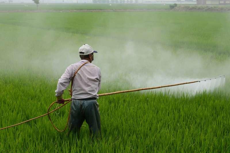 20200221-農民,農田,噴灑農藥,種植,示意圖。(資料照,取自pixabay)