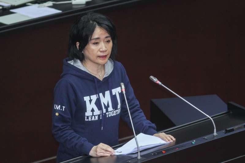20200221-立委李貴敏進行立院10屆一會期第一次會議國是論壇發言。(蔡親傑攝)
