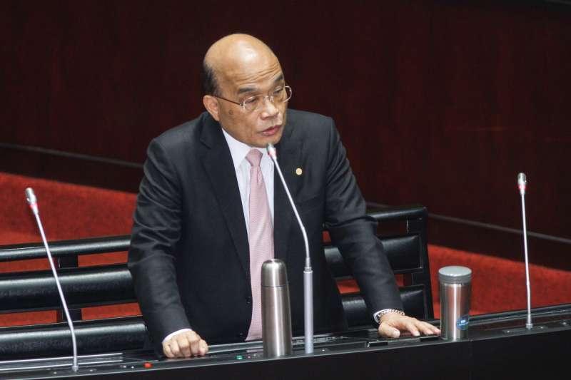 20200221-立院10屆一會期第一次會議,行政院長蘇貞昌備詢。(蔡親傑攝)