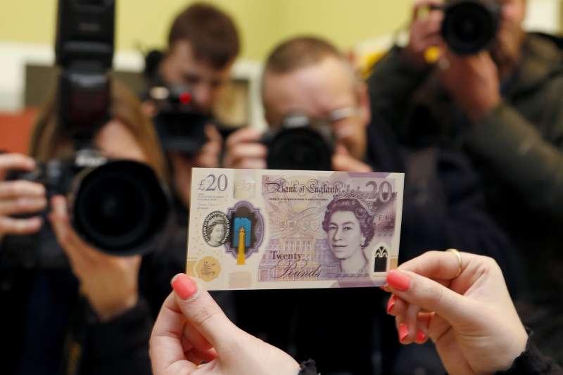 英國新版20鎊紙鈔(AP)