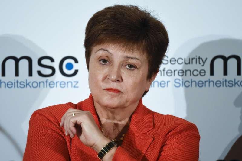 2020年2月14日,國際貨幣基金(IMF)總裁格奧爾基耶娃(Kristalina Georgieva)出席慕尼黑安全會議。(AP)