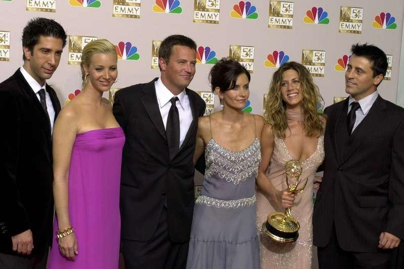 美國經典影集《六人行》6位主角大團圓演出特輯,將在全新影音平台HBO Max獨家播出(資料照,AP)