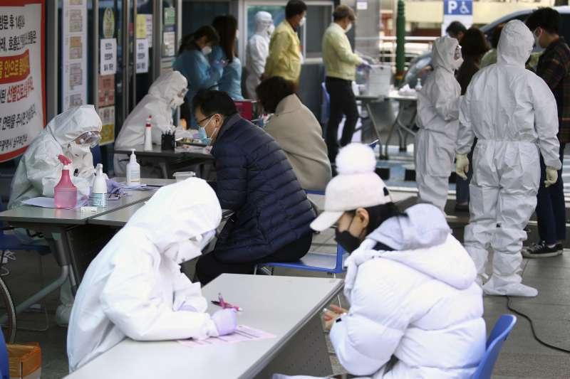 武漢肺炎(新冠肺炎)疫情衝擊南韓,大邱病例激增(AP)