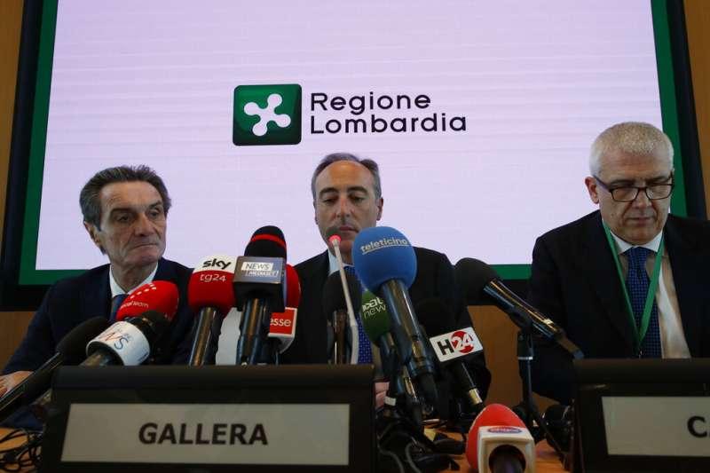 全球新型冠狀病毒(COVID-19、武漢肺炎)疫情延燒,位於歐洲的義大利21日也出現疫情惡化。倫巴底衛生官員加萊拉(Giulio Gallera)指出,當地出現群聚感染。(AP)