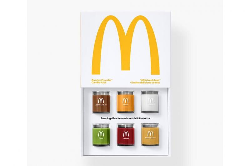 麥當勞推出「四盎司牛肉堡」香氛蠟燭組合。(圖/Would You Magazine)