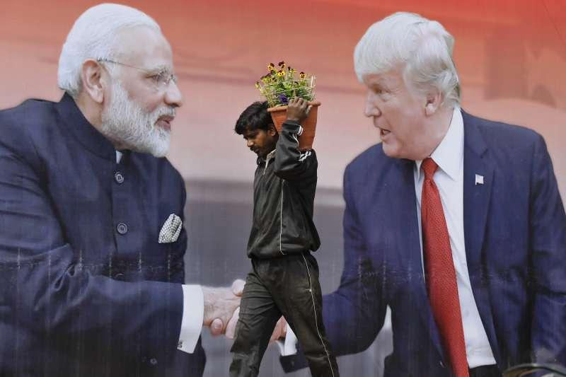 美國總統川普2月下旬訪問印度,展開2天的國是訪問(美聯社)
