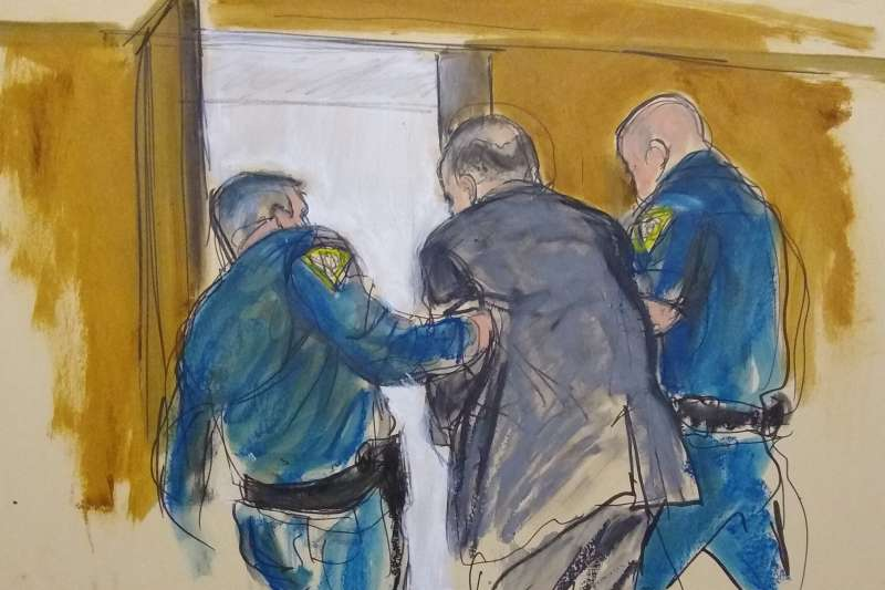 美國紐約法院陪審團24日判決好萊塢色魔製作人溫斯坦有罪(美聯社)