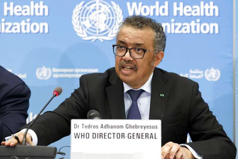 世界衛生組織(WHO)列出新冠病毒和流感病毒的7大區別。圖為WHO總幹事譚德塞。(資料照,美聯社)