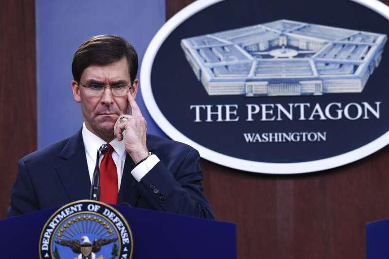 美國國防部長艾斯培。(美聯社)