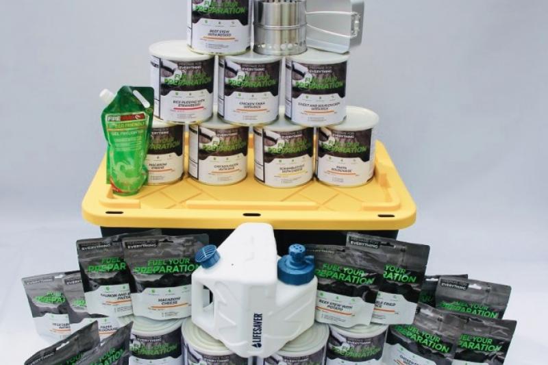 為了應對武漢肺炎疫情,英國民眾搶購急備糧食。(圖/Emergency Food Storage UK)