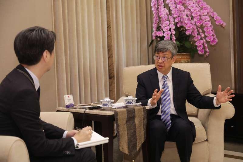 2020年2月26日,副總統陳建仁接受《日本產業經濟新聞社》專訪(總統府)
