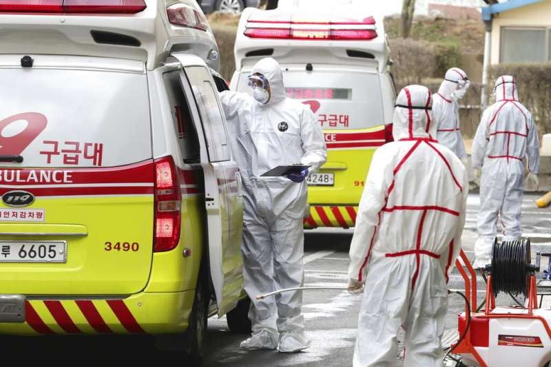 南韓疫情已經成為中國以外最嚴重的國家,大邱一帶則是南韓最嚴重的疫區。(美聯社)
