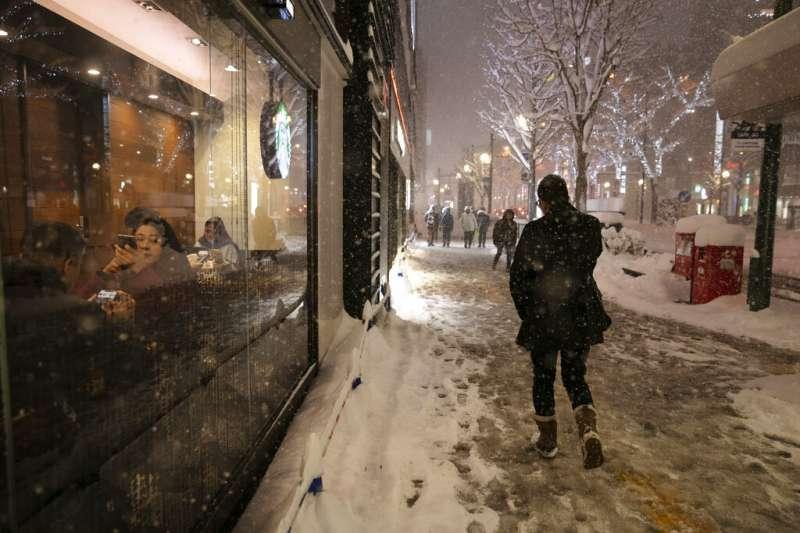 北海道雪景。(美聯社)