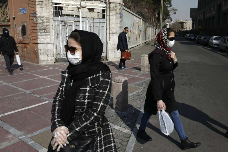 武漢肺炎(新冠肺炎)疫情在伊朗快速爆發。(AP)