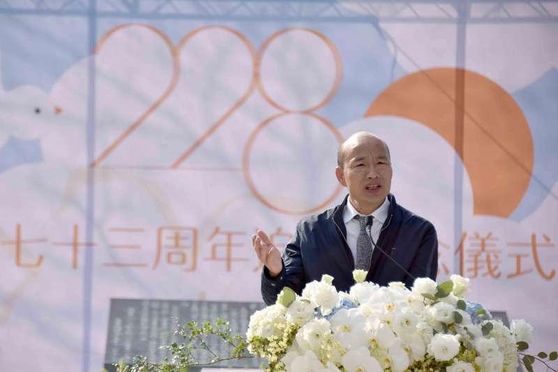 高雄市長韓國瑜(見圖)如今面臨罷免危機,罷免第二階段40萬份連署書,已於3月9日送至高雄市選委會審核。(資料照,高雄市政府提供)